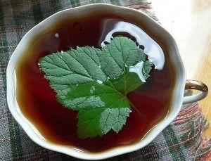 Чай с соком черной смородины