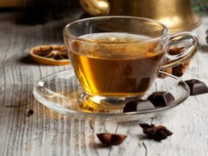 Зеленый чай с темным шоколадом